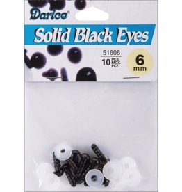 Darice Shank Black Solid Eyes 6mm 10/Pkg