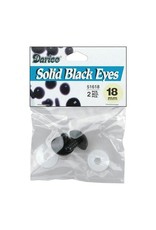 Darice Shank Black Solid Eyes 18mm 2/Pkg