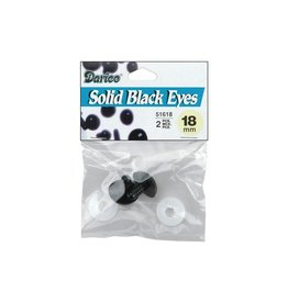 Darice Shank Black Solid Eyes 18mm 2/Pkg