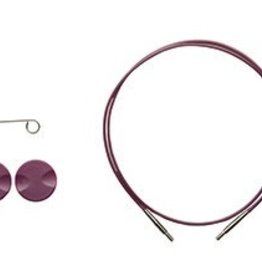 "Knitpicks 32"", Options Interchangeable Circular Knitting Needle Cables - Purple single pack"