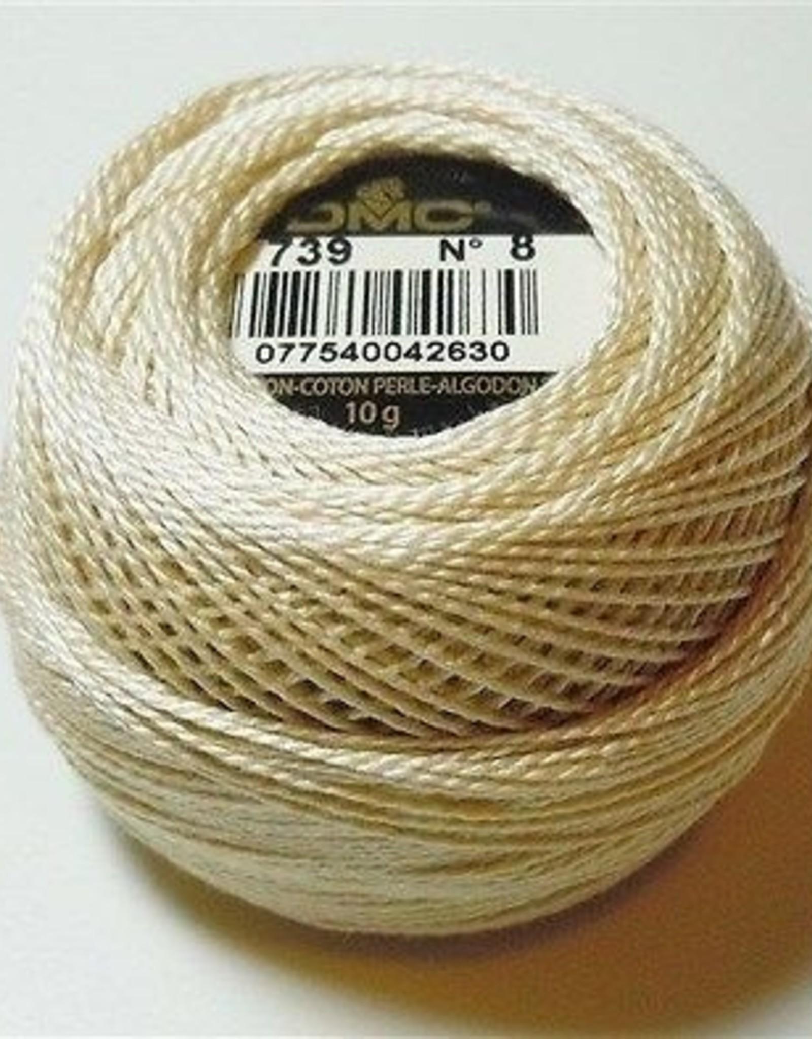 DMC Pearl Cotton Balls Size 8 - 87 Yards, Very Light Mocha Brown