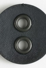 Dill Black Button with Metal Holes, 32 mm