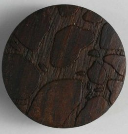 Dill Embossed Wood Button, 18 mm