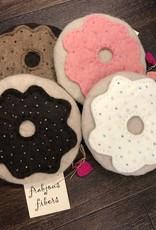 Frabjous Fibers Doughnut felted notions bag