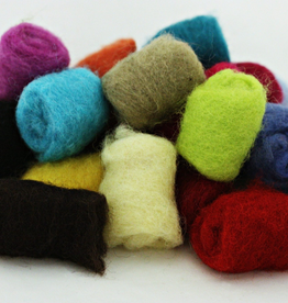 Frabjous Fibers Gumballs needle felting wool by Frabjous Fibers assorted colors