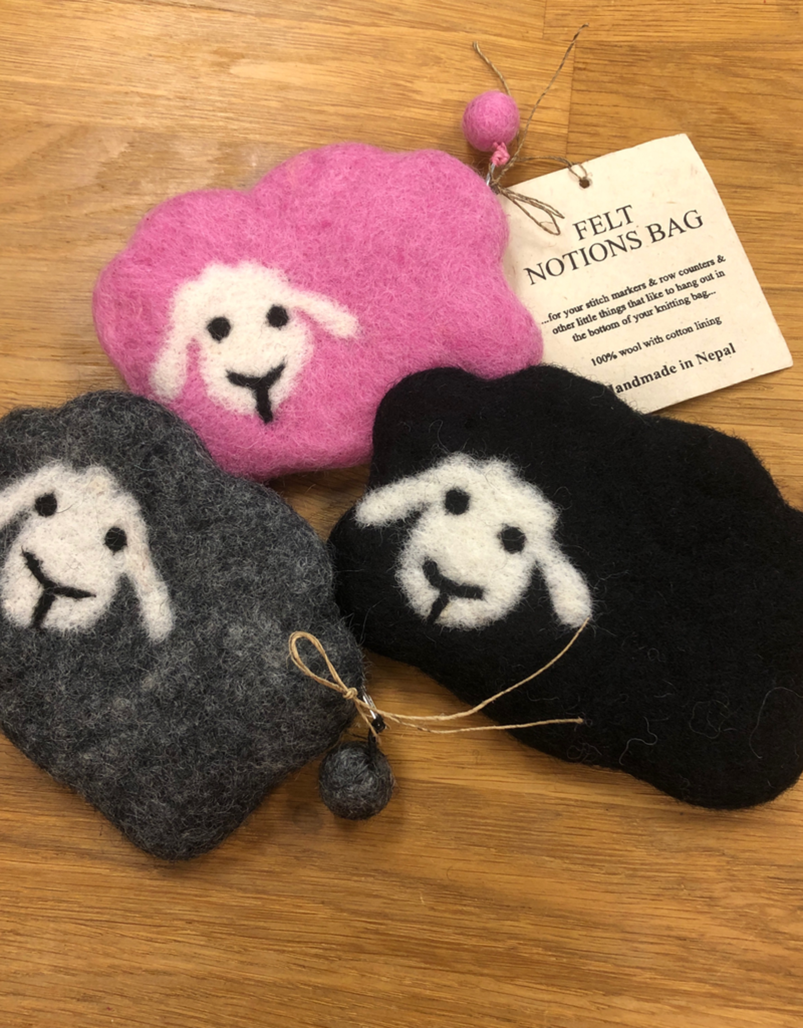 Frabjous Fibers Baby Sheep felted notions bag