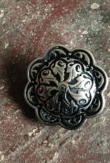 "Jul Designs Jul Floral Relief Pedestal Button 1.5"""