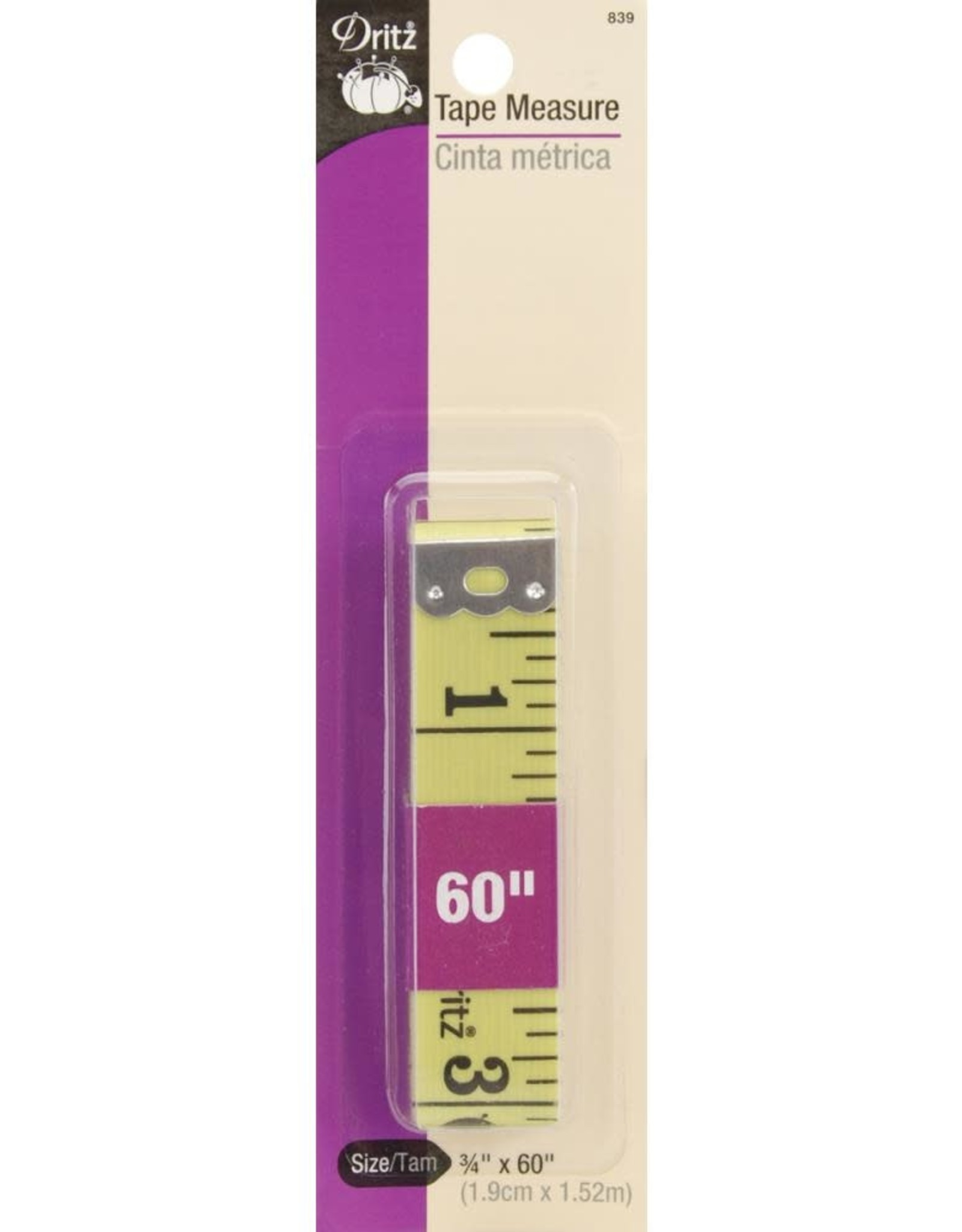 "Dritz Dritz Tape Measure - 3/4"" x 60"""