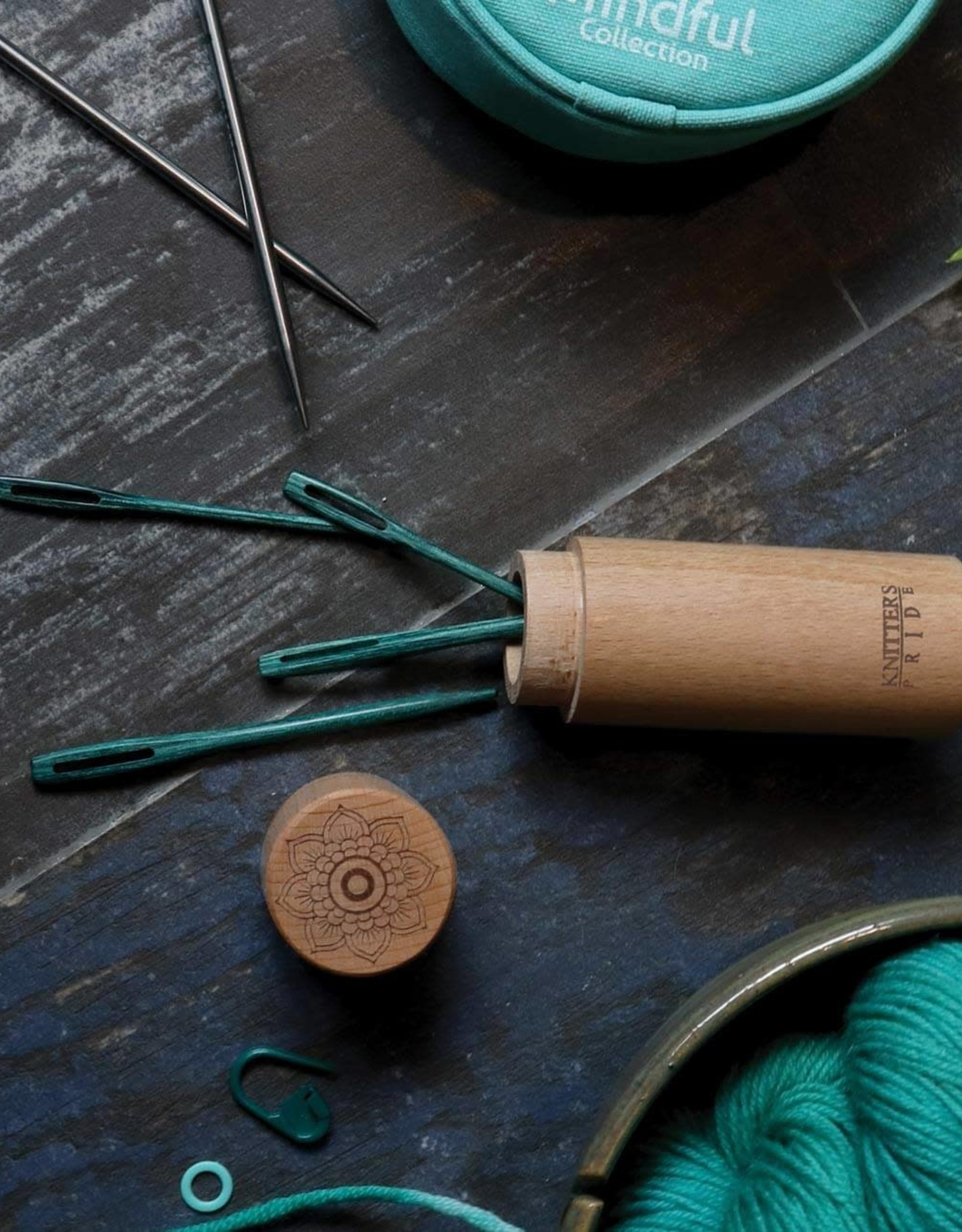 Teal Wooden Darning Needles: Mindful Collection from Knitter's Pride