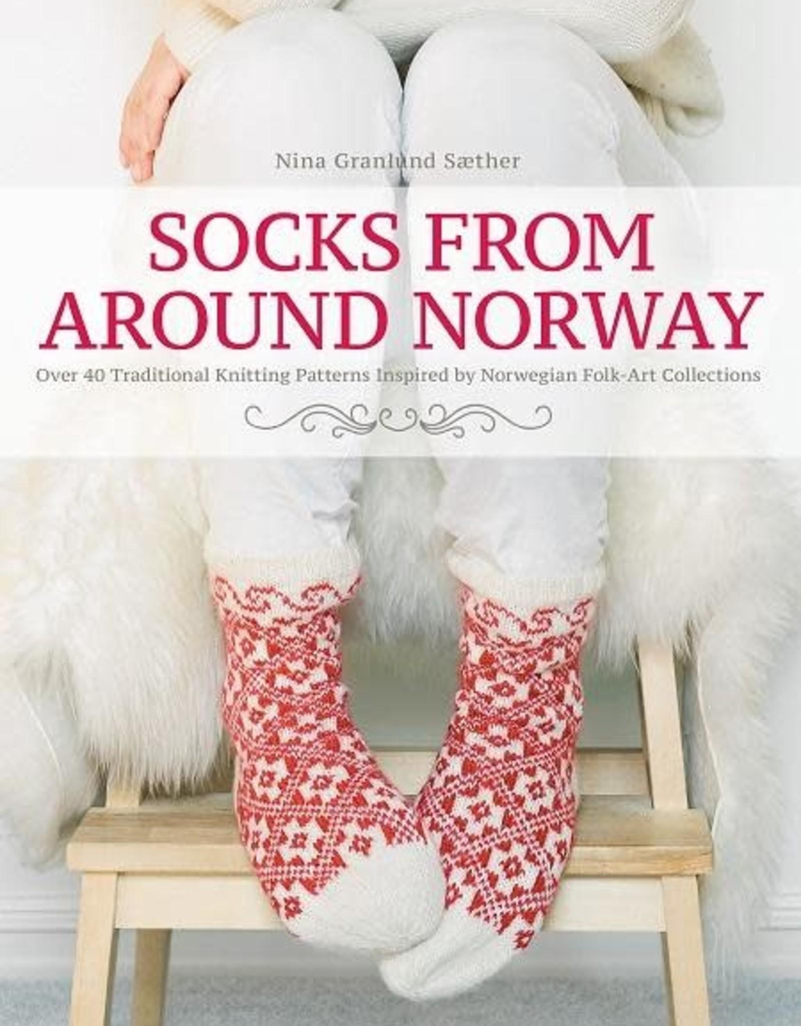 Trafalgar Books Socks From Around Norway by Nina Granlund Nina Granlund Sæther
