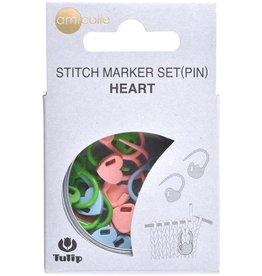 Tulip Heart Locking Stitch Markers