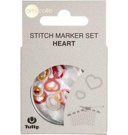 Tulip Tulip Stitch Marker Set -- Hearts