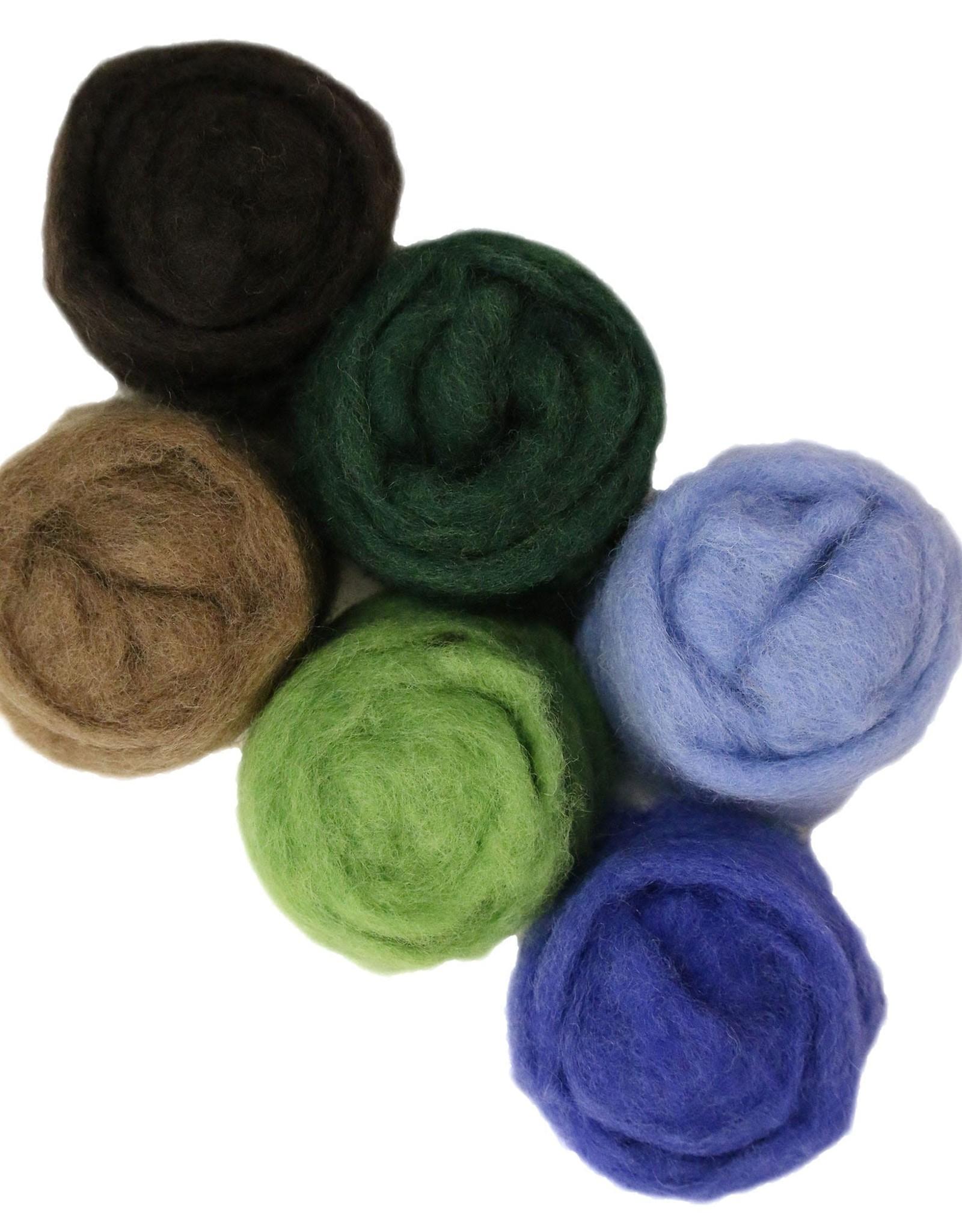Frabjous Fibers Wooly Bullies Needlefelting Wool by Frabjous Fibers
