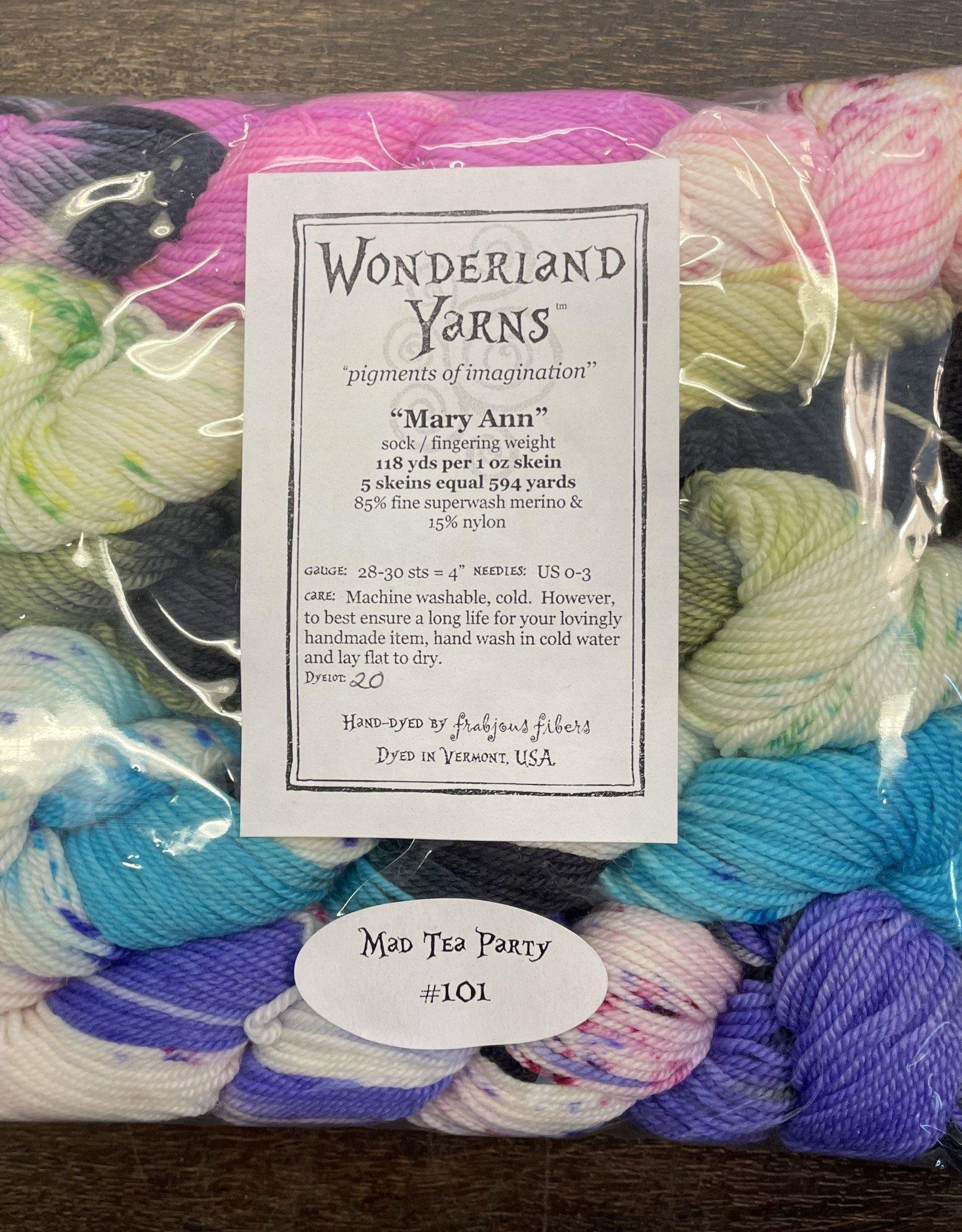 Wonderland Yarn Mary Ann Mini Skein Packs by Wonderland Yarn