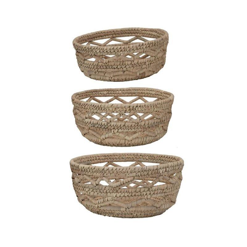 Decorative Hand Woven Grass Baskets Set of 3