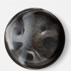 Black Swirled Resin Serving Bowl