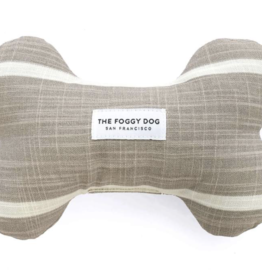 The Foggy Dog Modern Stripe Squeaky Toy