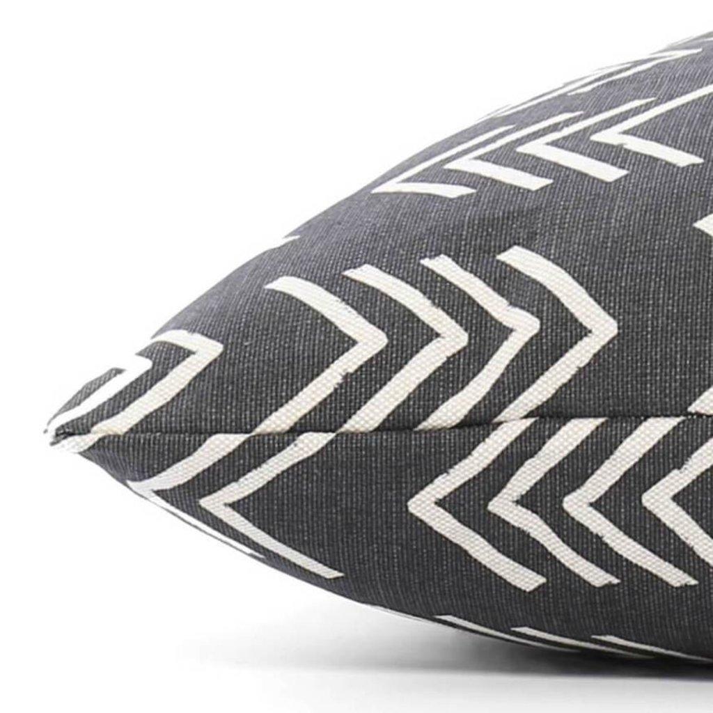 The Foggy Dog Modern Black Mud Cloth Dog Bed + Insert