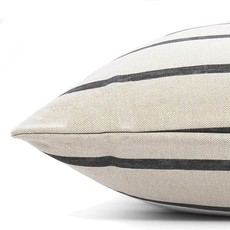 Modern Stripe Charcoal Dog Bed + Insert