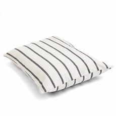 The Foggy Dog Modern Stripe Charcoal Dog Bed + Insert