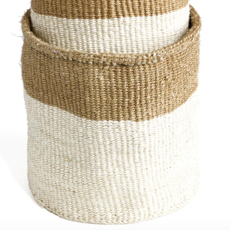 Dual Toned Sisal Basket - Large