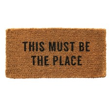 """Natural Coir Doormat """"This Must Be The Place"""""""