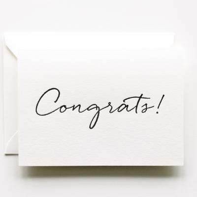 Handwritten Congrats