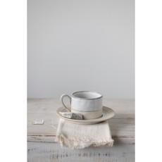 Glaze Stoneware Cup & Saucer
