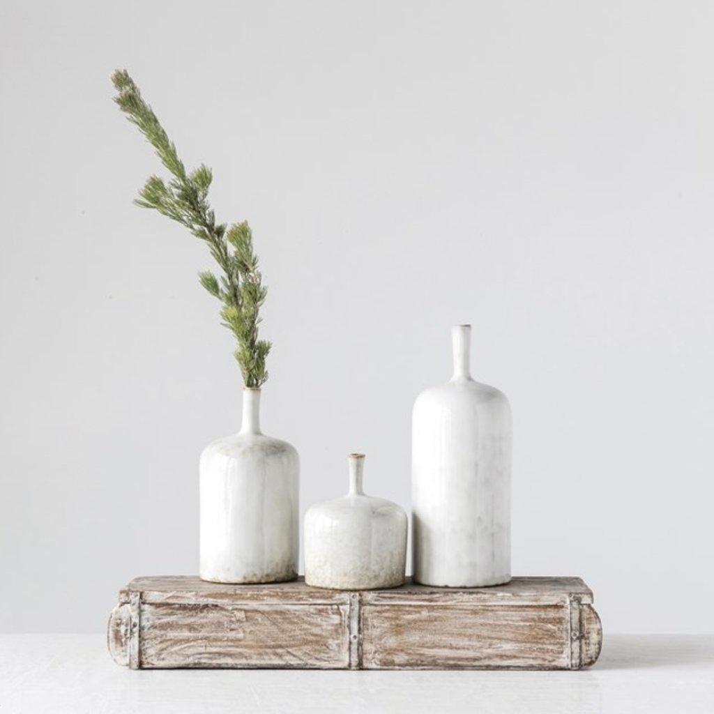 Reactive Glaze Stoneware Vase