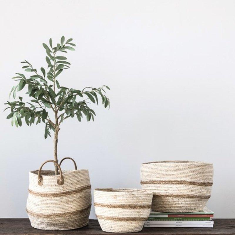 Round Maize Baskets Set of 3