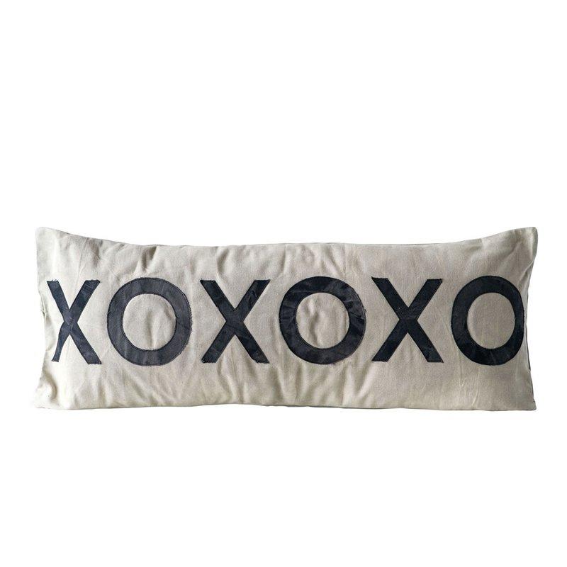 Cotton Canvas XOXOXO Pillow