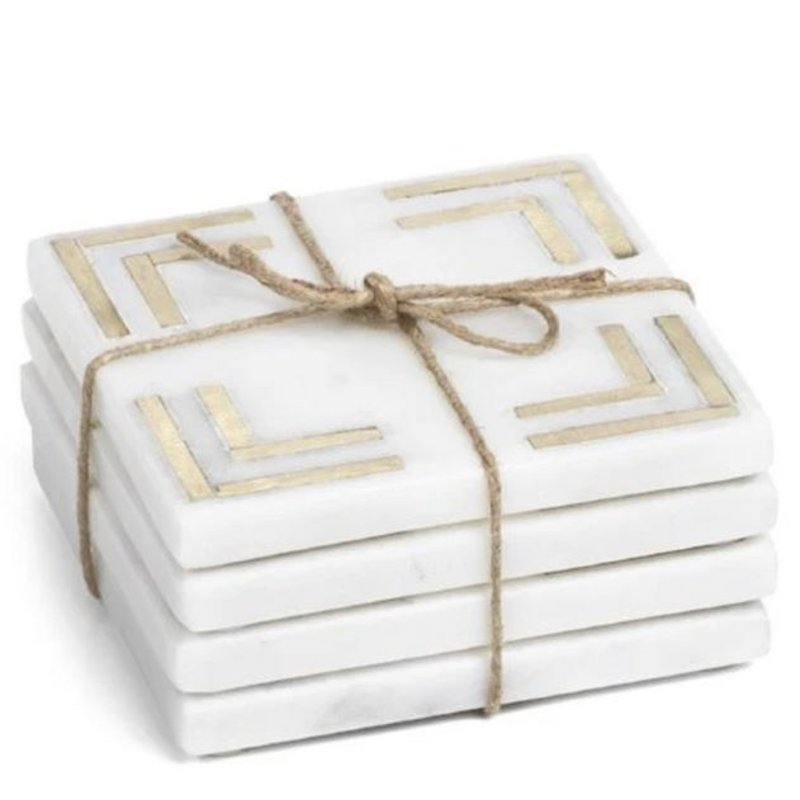 Zodax Marmo Marble Square Set of 4 Coasters