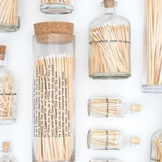 Skeem Poetry Fireplace Match Bottle