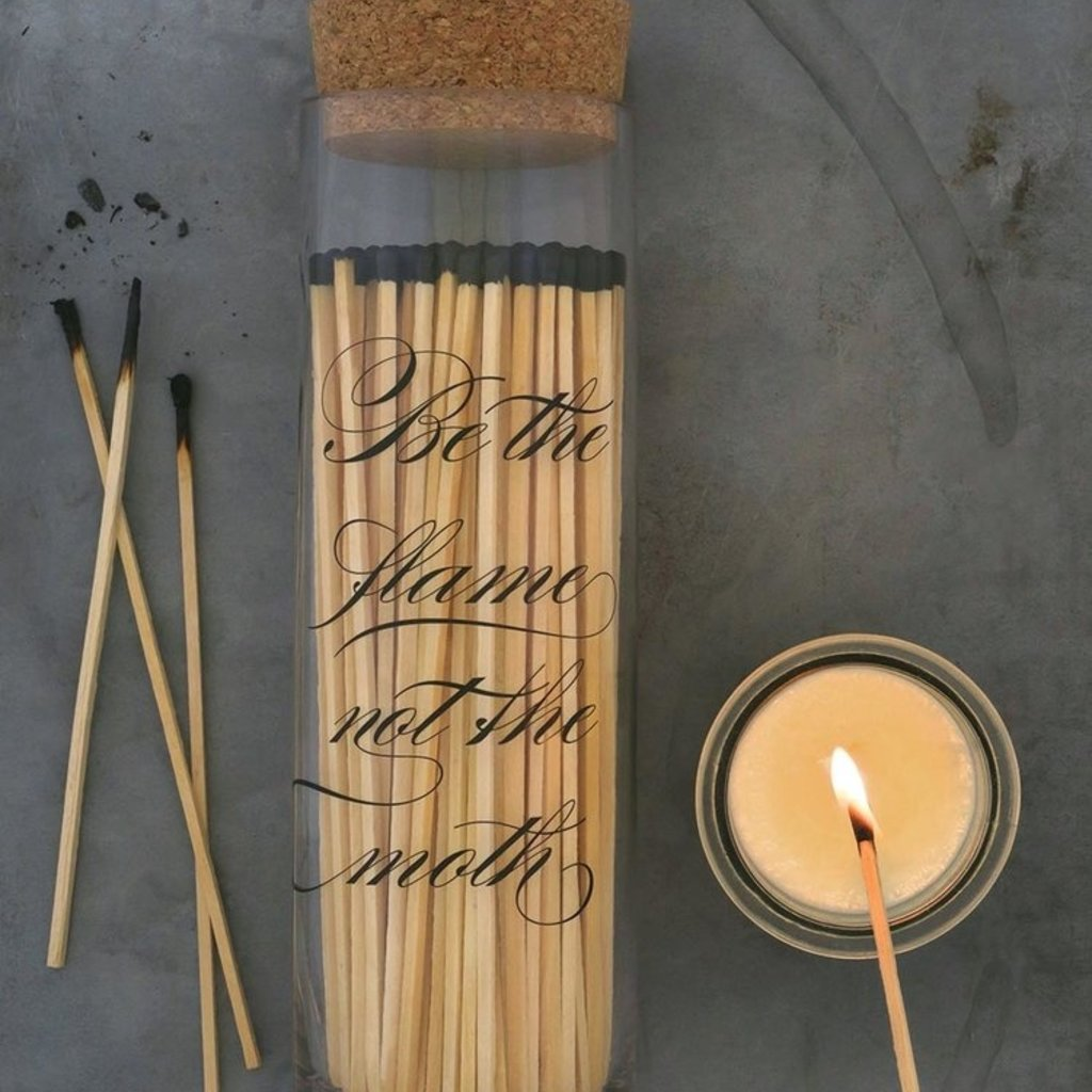 Calligraphy Fireplace Match Bottle