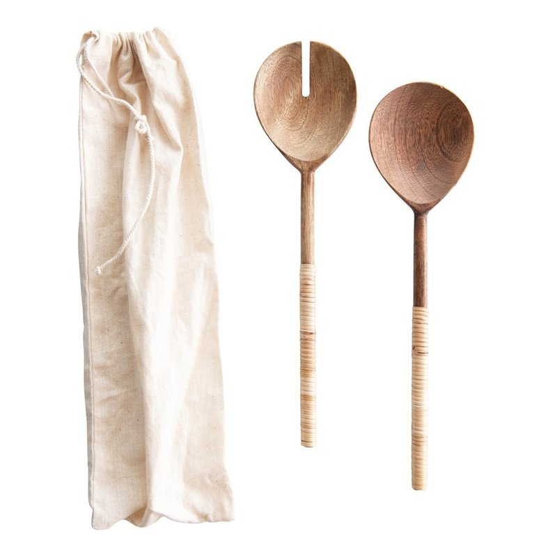 Wood Salad Servers Set of 2