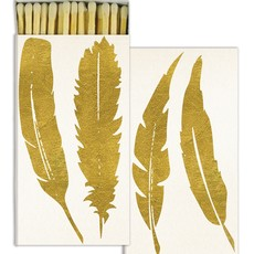 Matches Gold Foil Feather