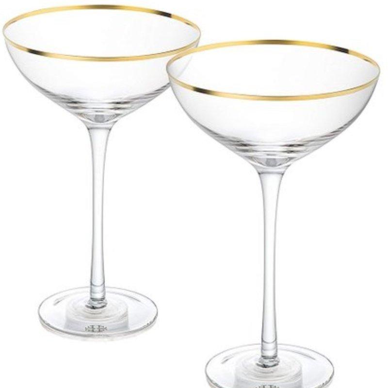Martini / Serving Bowl w / Gold Rim