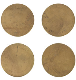 Sir Madam Brass Coasters Set of 4