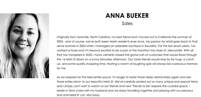 Anna Bueker Bio