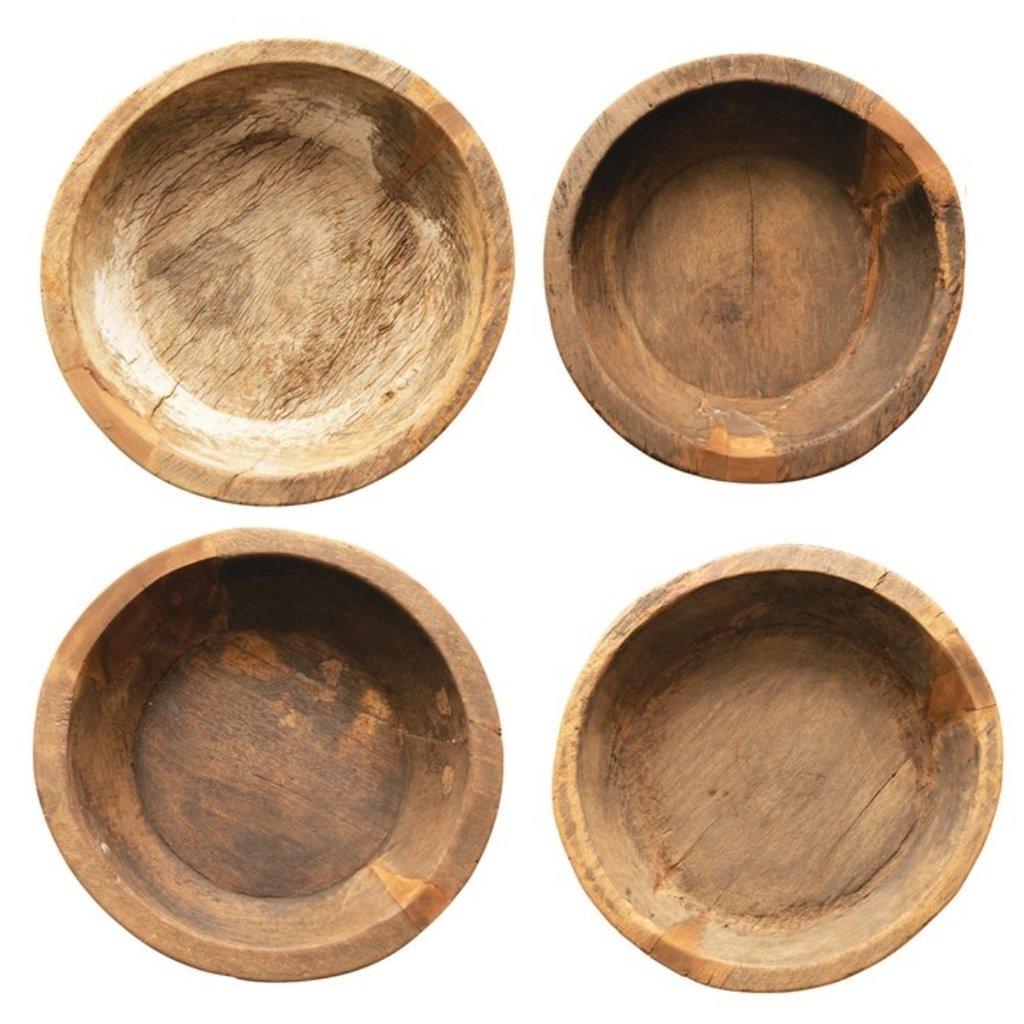 Round Teak Wood Bowl