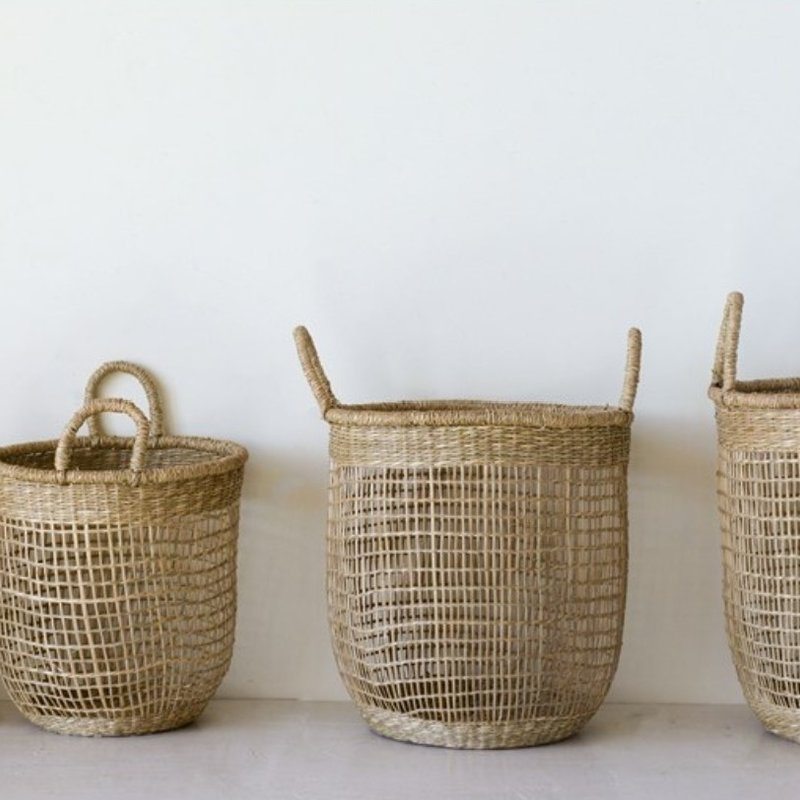 Seagrass Baskets w  Handles Set of 4