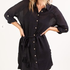 Shadow Stripe Belted Tunic