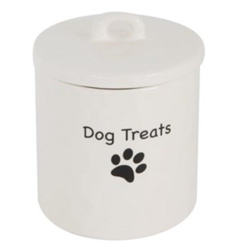 "Stoneware Canister ""Dog Treats"""
