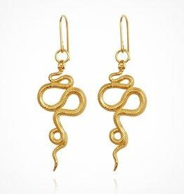 Temple Of The Sun Snake Earrings