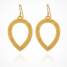 Temple Of The Sun Padma Earrings Gold