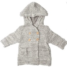 Beba Bean Crochet Knit Hoodie