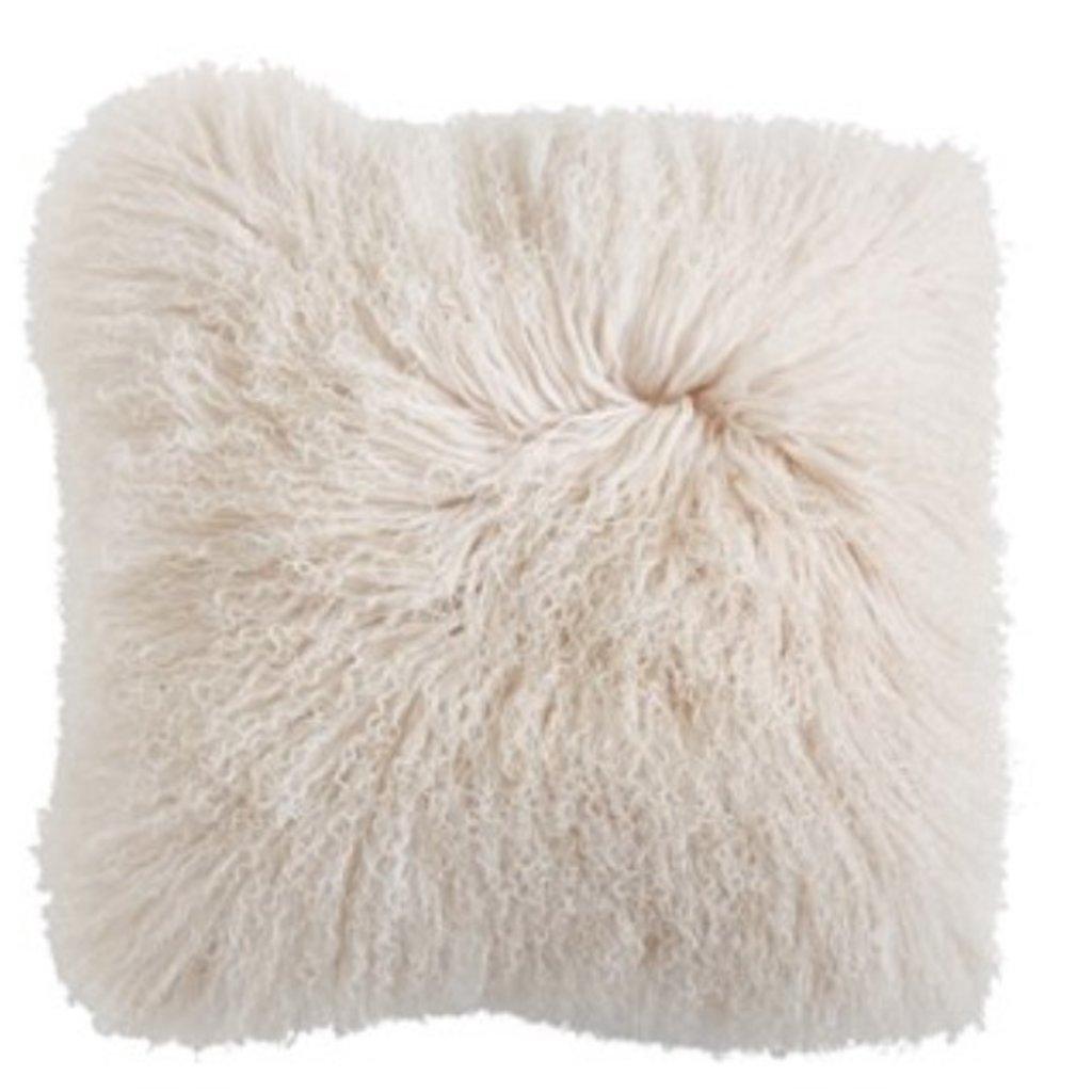 Square Mongolian Lamb Fur Pillow