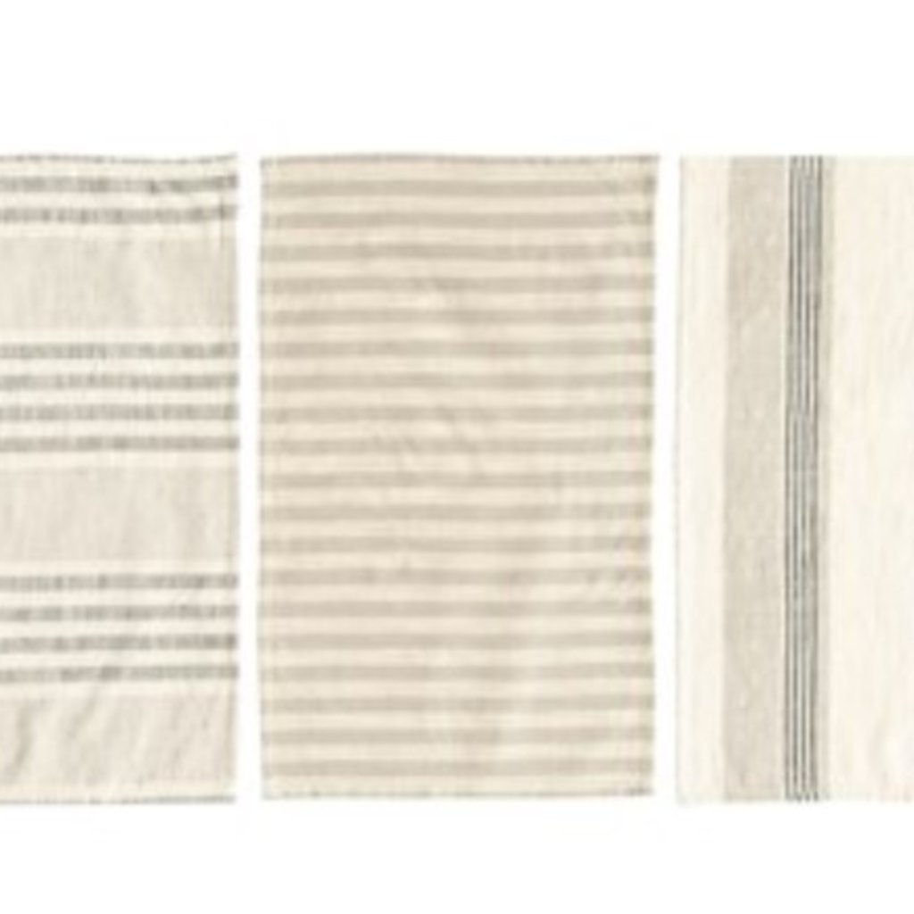 Woven Cotton Striped Tea Towels