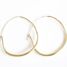 Marisa Mason Natural Brass Medium Hoops
