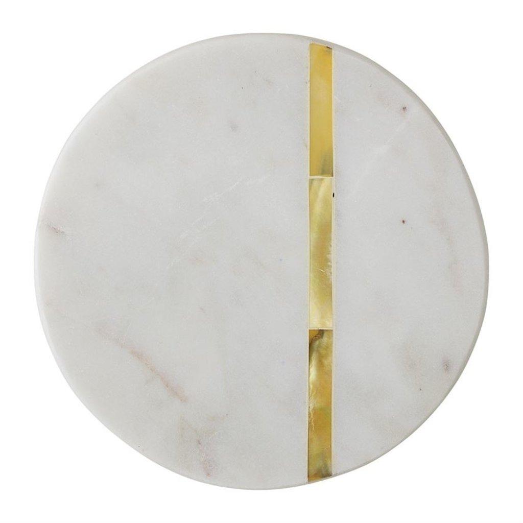 Round Marble Coasters Set of 4